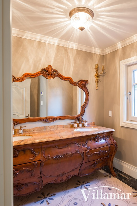 traditional antique remodel victoria home vanity